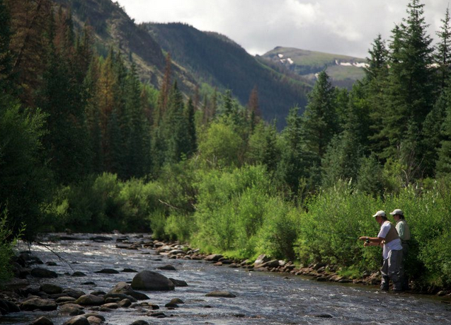 Fly fishing on Goose Creek.