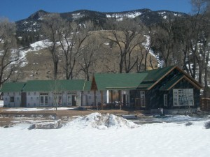 winter progress at 4UR Ranch in Creede, CO