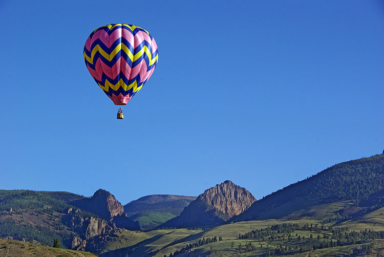 Hot Air Balloon Image Courtesy of Creede Balloon Festival