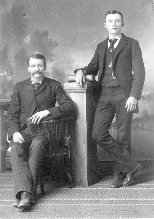 Creede, Colorado - Nicholas Creede & Nephew Harvey Lester, 1870 - Creede Historical Society Archive #3069-P-434