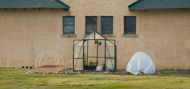 colorado ranch greenhouse and raised bed garden