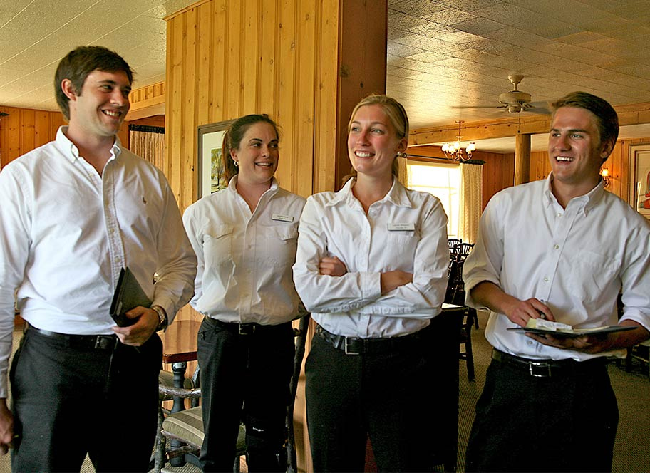 4UR Ranch dining room staff