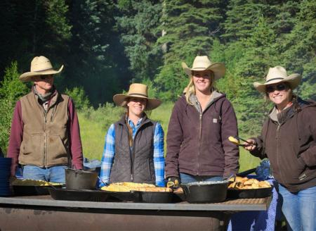 Outdoor cookout staff at 4UR