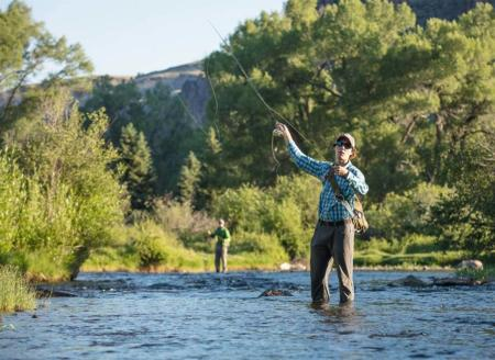 Casting in the river at 4UR