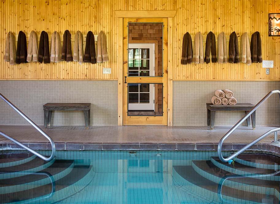View of indoor pool