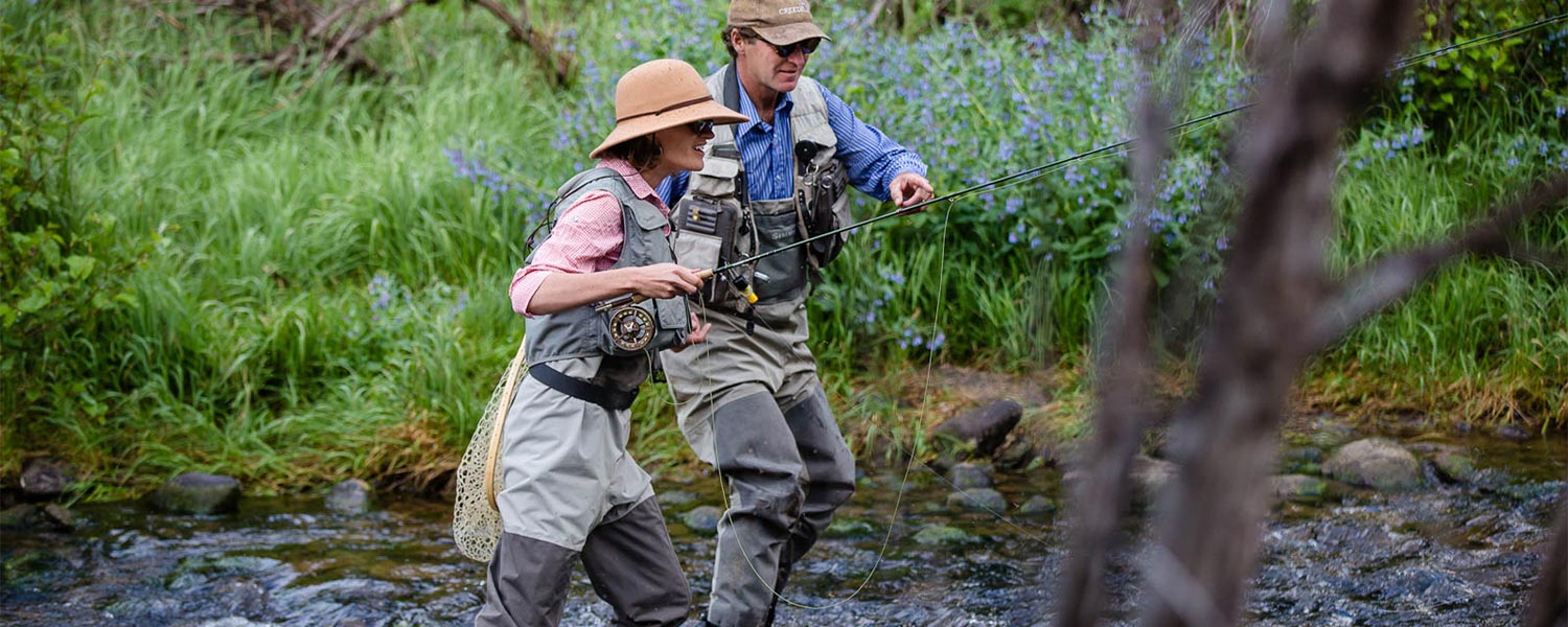 Fly fishing on the river