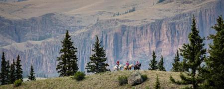 Horseback riding at 4UR ranch