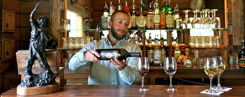 Wine pour at 4UR Bar