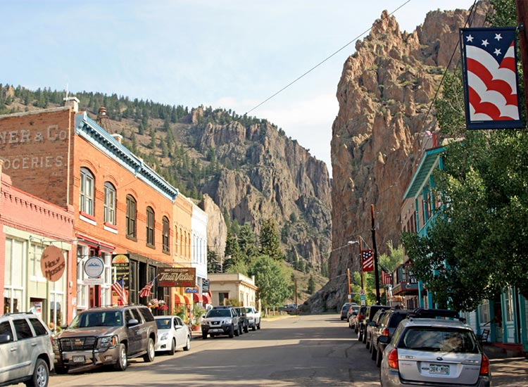 Present day downtown Creede
