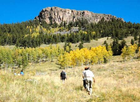Hiking up toward the ridge