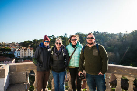Liz, Jamie, Hannah and Blake in Sintra