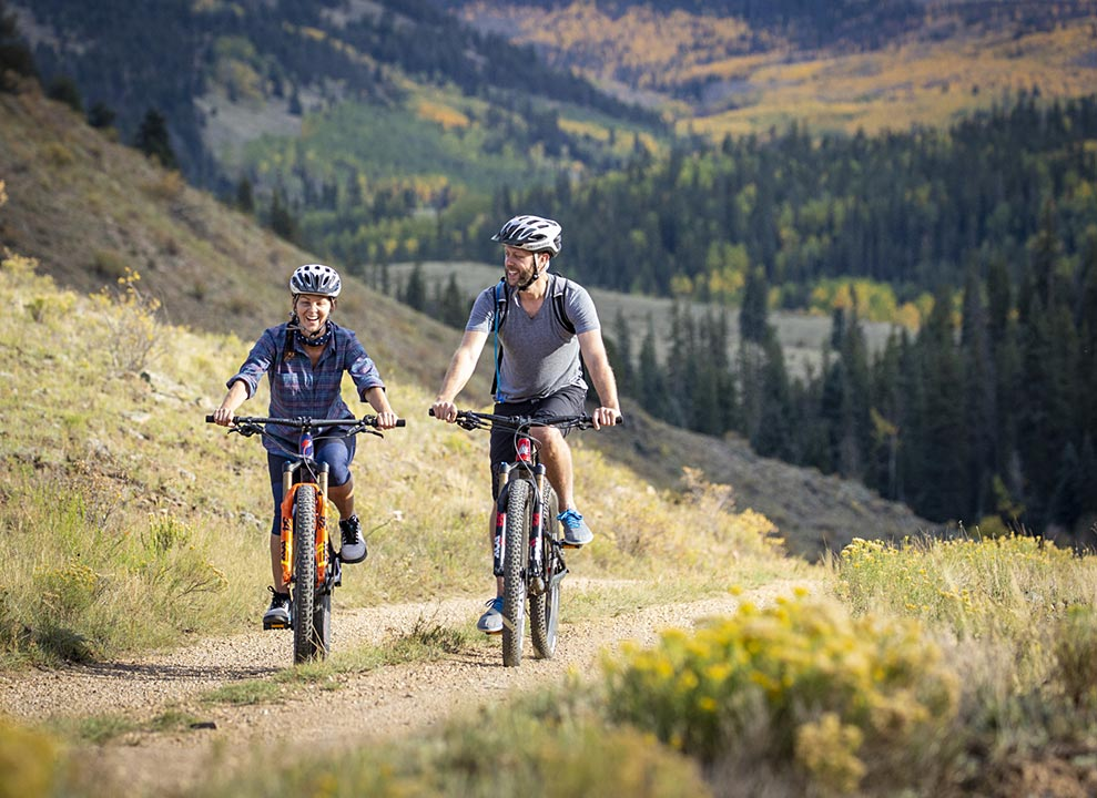 Biking at 4UR Ranch in Creede CO
