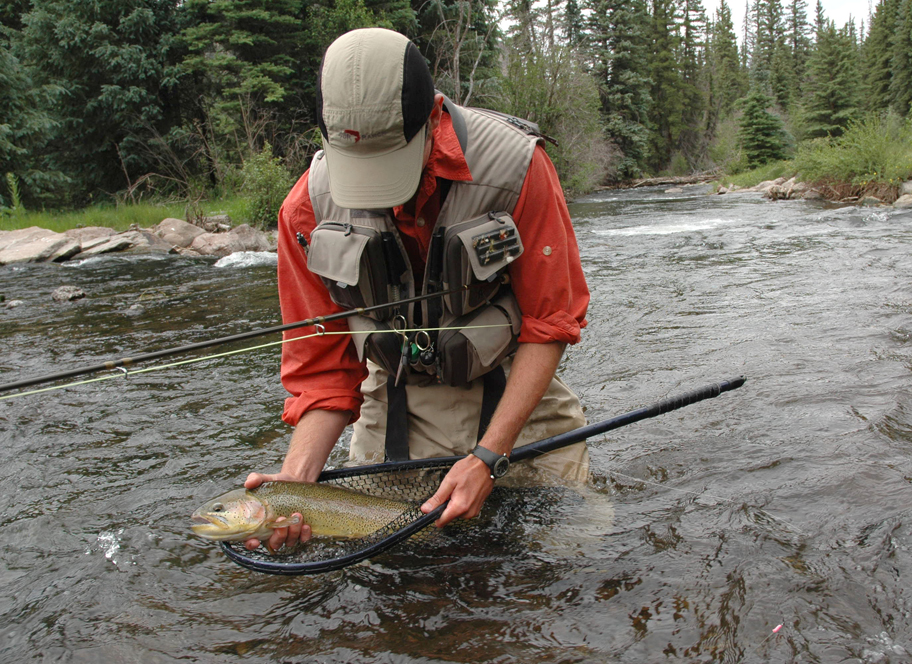 Fishing at 4UR Ranch in Creede CO