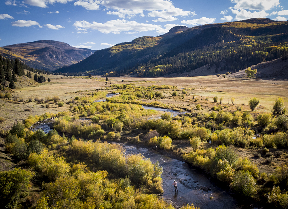 Fly fishing Goose Creek at 4UR Ranch in Creede CO