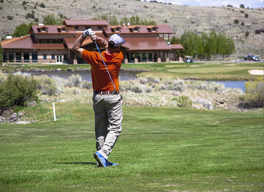 Golfing at 4UR Ranch in Creede CO
