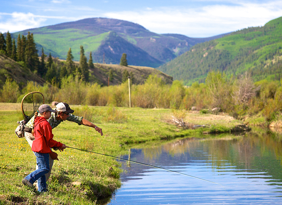 fishing for kids and teens at 4UR Ranch in Creede CO
